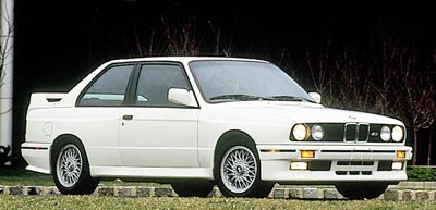 1987 BMW M3 front-three-quarter view