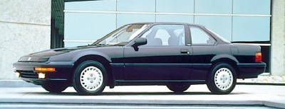 The 1988 Honda Prelude Si 4WS coupe, part of the 1988-1991 Honda Prelude line of cars.