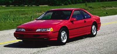 1990 Ford Thunderbird Super Coupe, the sucessor to the Thunderbird Turbo Coupe