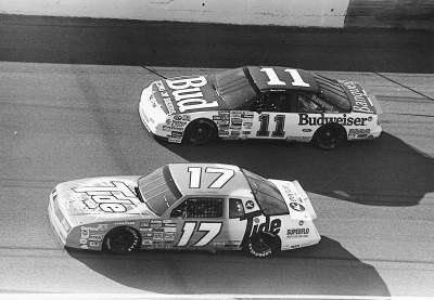 Terry Labonte's #11 Budweiser Ford and Darrell Waltrip's #17 Tide Chevrolet were strong performers in Daytona and Talladega.