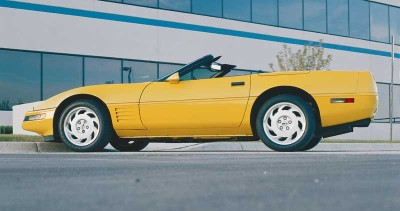 This 1991 Corvette convertible is one of 5,692 built for the model year.
