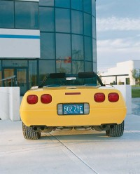 The 1991 Corvette's back panel featured squared-up taillights.