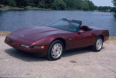 The 40th Anniversary 1993 Corvette featured Ruby Red paint and matching leather-lined cockpit.