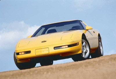 Newly avaliable for the 1994 Corvette were five-spoke wheels wearing Goodyear