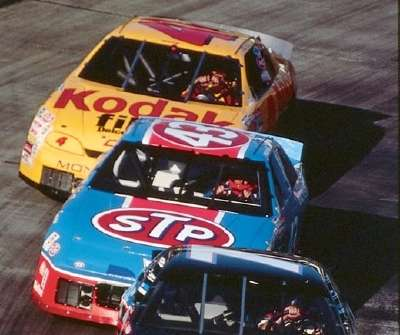 Driver Geoff Bodine cruises ahead to win the 1994 Tyson Holly Farms 400, a NASCAR Winston Cup series event.