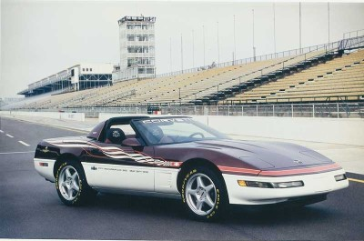 Buyers who purchased the 1995 Corvette Indy Car replica got the same special paint and graphics.