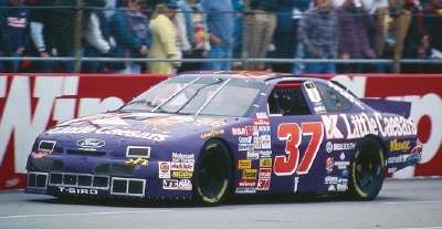 Indy car driver John Andretti in the 1995 Mountain Dew Southern 500, a NASCAR Winston Cup series event.