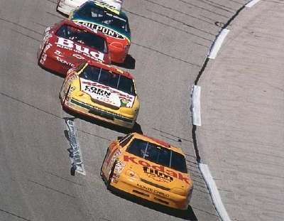 Sterling Marlin leads during a 1996 NASCAR Winston Cup series race at Talladega.