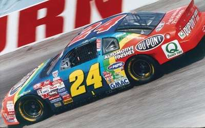 Jeff Gordon in the 1998 Pepsi Southern 500, a NASCAR Winston Cup series event.