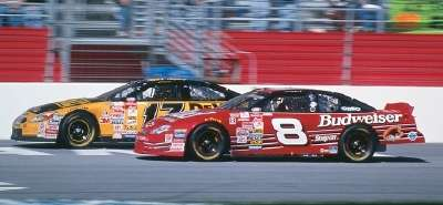 Rookies Dale Earnhardt, Jr. and Matt kenseth drive in the 2000 DirecTV 500, a NASCAR Winston Cup series event.