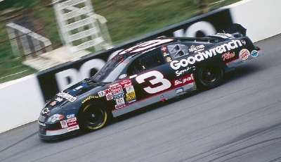 Dale Earnhardt drives in the 2000 Pocono 500, a NASCAR Winston Cup series event.