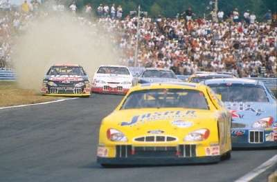 Boris Said drives in the 2001 Global Crossing At The Glen race, a NASCAR Winston Cup series event.