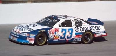 Joe Nemechek drives in the 2001 Pop Secret Microwave Popcorn 400, a NASCAR Winston Cup series event.
