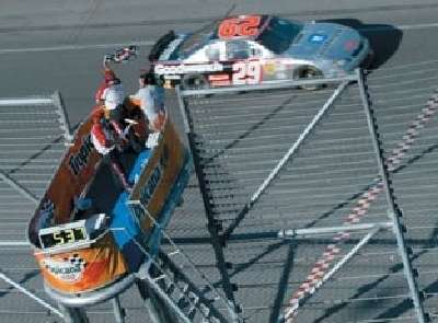 Kevin Harvick wins the 2002 Tropicana 400, a NASCAR Winston Cup series event.