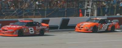 Dale Earnhardt, Jr. drives in the 2002 EA Sports 500, a NASCAR Winston Cup series event.