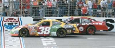 Elliott Sadler wins the 2004 Samsung/Radio Shack 500, a NASCAR NEXTEL Cup series event.