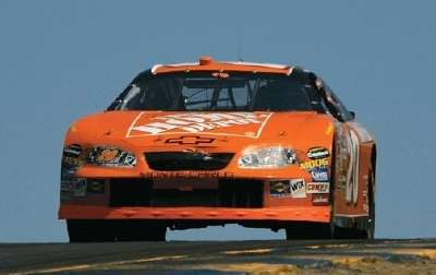Tony Stewart drives in the 2005 Dodge/Save Mart 350, a NASCAR NEXTEL Cup series event.