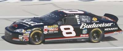 Dale Earnhardt Jr.'s car is reminiscent of his late fathers for the 2006 Aaron's 499.