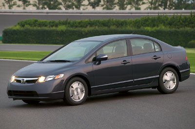 Hybrid cars like the 2007 Honda Civic Hybrid are designed for fuel efficiency and low emissions.