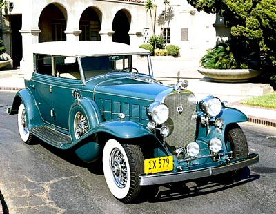 The 1932 Cadillac V-12 All Weather Phaeton,  part of the 1930-1937 Cadillac Twelve line of collectible cars.