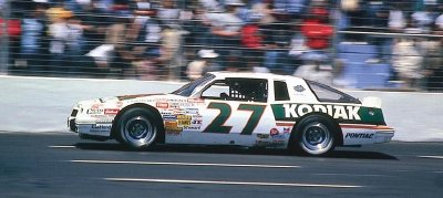 Rusty Wallace drove the slope-backed #27 Kodiak Pontiac in 1987, winning twice.