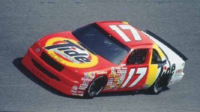 Number 17 Darrell Waltrip was injured in a July practice accident at Daytona, abbreviating his 1990 campaign.