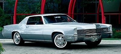 1968 Cadillac Fleetwood Eldorado hardtop coupe, part of the 1967-1970 Cadillac Fleetwood Eldorado line of collectible cars.