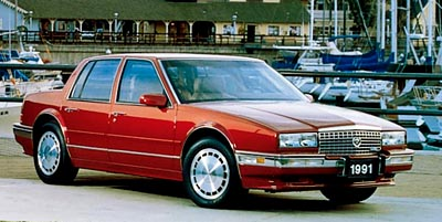 The 1991 Cadillac STS, part of the 1990-1991 Cadillac Seville STS line of collectible cars.