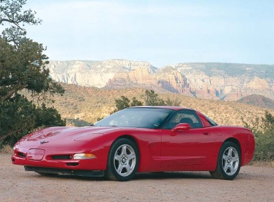 The 1997 Corvette C5 boasted swoopier styling, Detroit's lowest air-drag factor, and the longest wheelbase in Corvette history.