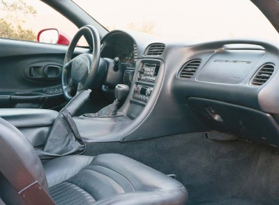 The 1997 Corvette boasted a new interior layout, still with the dual cowl motif, that provided more comfort.