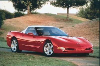 The soft top on the 1998 Corvette convertible remained manual but was easier to use than the C4's.