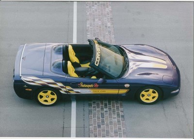 A new 1998 Corvette convertible was the 11th Chevrolet and the fourth Corvette to pace the Indianapolis 500.