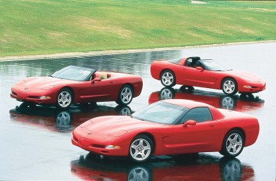 The 1999 Corvette offered three separate models for the first time with the debut of a notchback hardtop coupe.