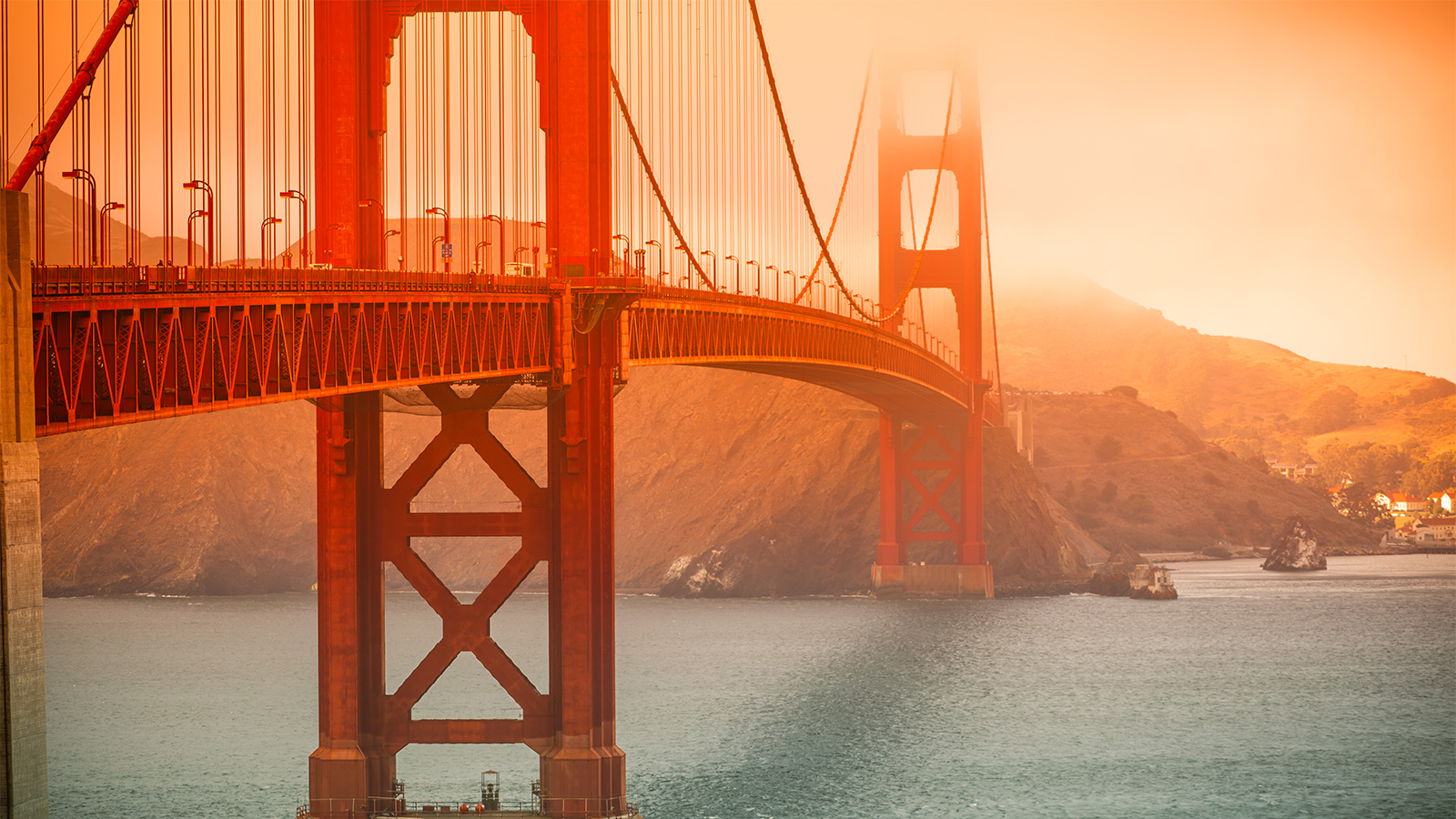 How San Francisco's Golden Gate Bridge Was Built, and Why It's Not Actually Red