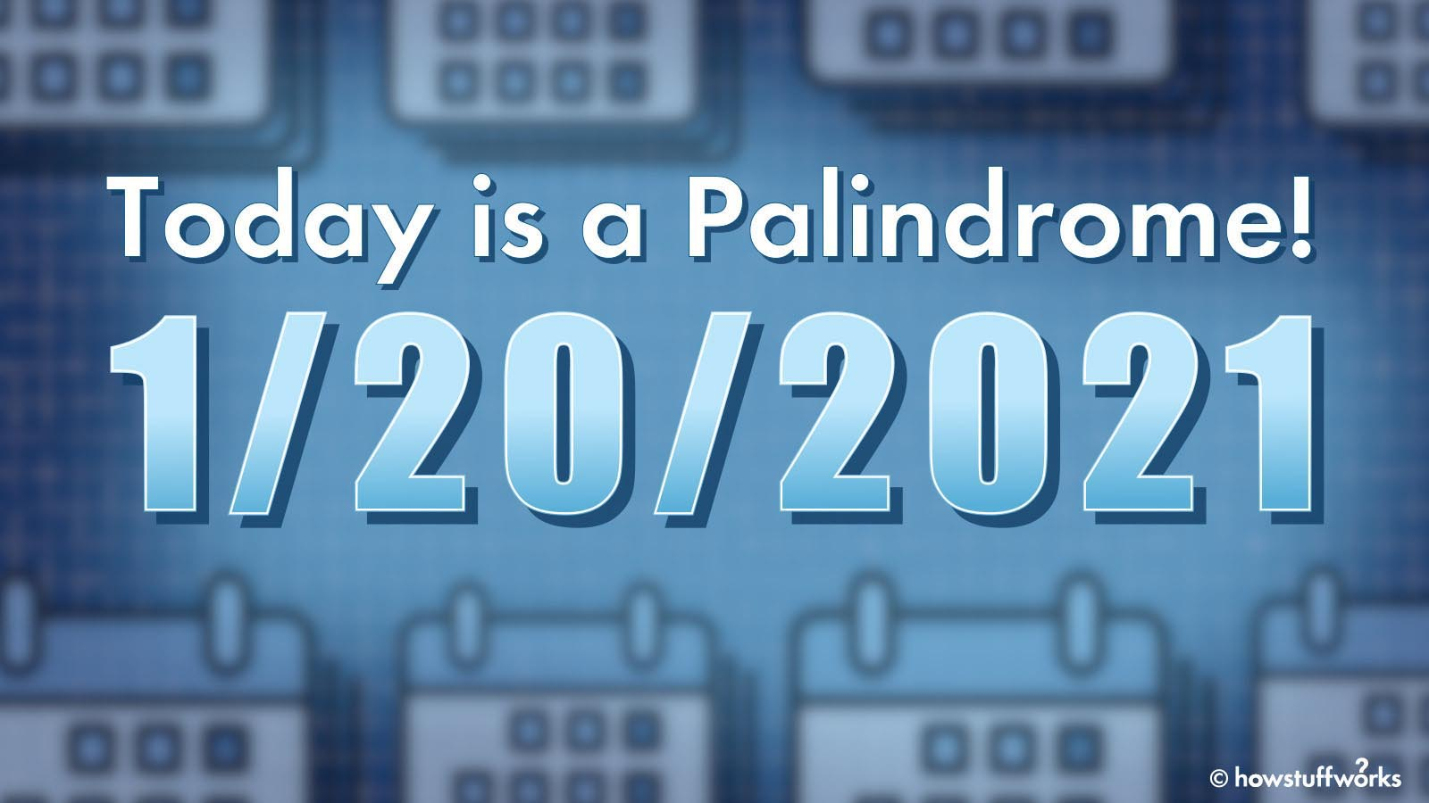 It's Inauguration Day: And It's a Palindrome!