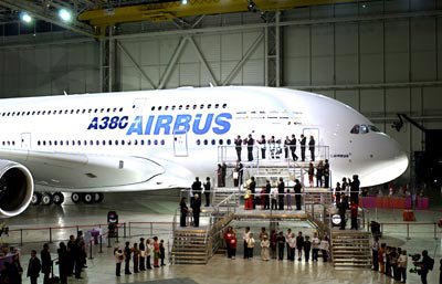 A380 is revealed to the public.