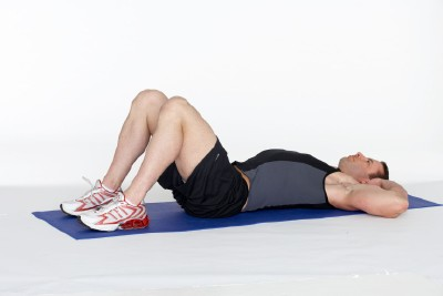 Abdominal and Lower Back Workout Step 1
