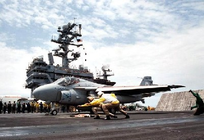 Catapults and Taking Off from an Aircraft Carrier