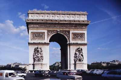 The Arc de Triomphe stands on Place Charles de Gaulle, at the hub of 12 avenues.