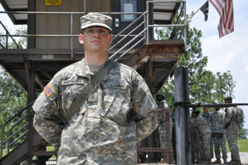 Pfc. Joseph Mortensen will learn discipline, time management, teamwork and leadership in the Army.