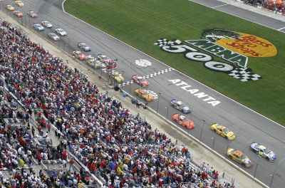 Atlanta Motor Speedway is the site of NASCAR races.