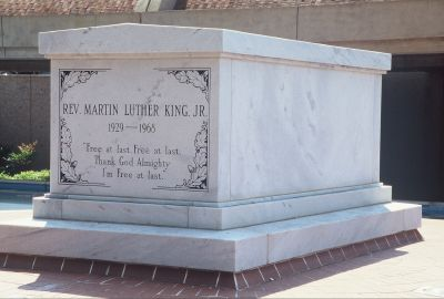 The Martin Luther King monument is a popular tourist destination in Atlanta.