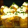 Baby Baked Potatoes with Sour Cream and Chives