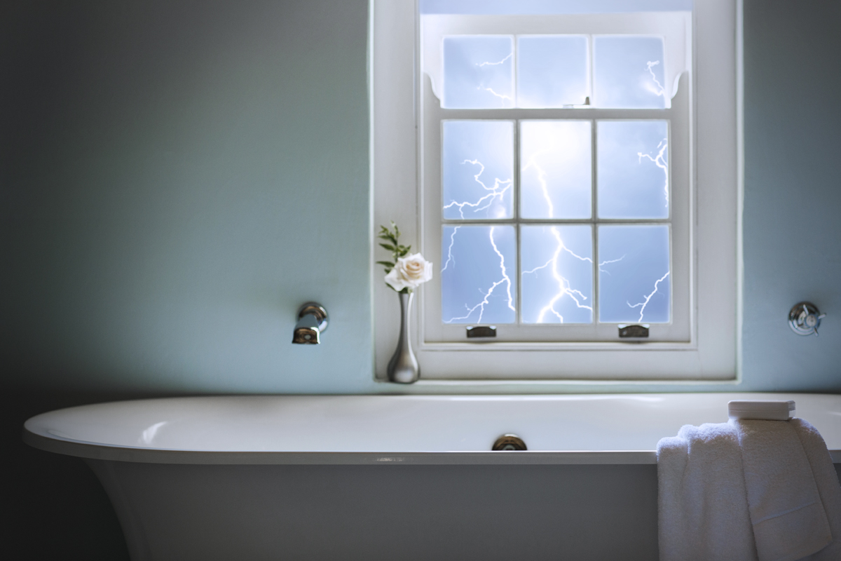 Is It Dangerous to Bathe During a Thunderstorm?