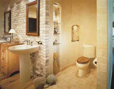 Bathroom Decorating Idea: Southwest Ranch | HowStuffWorks on bathroom remodeling from 1980s, bathroom modern country designs, bathroom shower ideas, bathroom remodeling ideas for ranch style home,