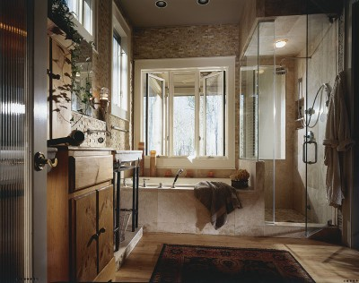Bathroom Design Idea: Stone Styling | HowStuffWorks on natural bedroom ideas, small kitchen design ideas, natural bedroom designs, natural kitchen ideas, natural bathroom lighting, natural office design, natural art ideas, natural interior decorating ideas, natural interior design, natural stone bathroom, natural bathroom decor, stone wall bathroom shower ideas, natural dining room design, natural bathrooms design materials, luxury kitchen design ideas, natural kitchen cabinets,