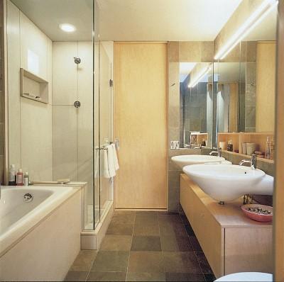 bathroom design idea: streamlining tight spaces