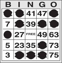 Odd-Even Bingo Card Pattern