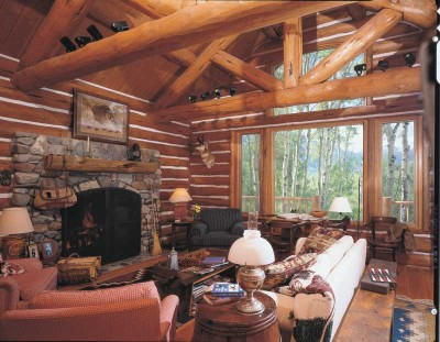 A Woodsy Retreat - Cabin Decor Idea: Taking Logs to New ...