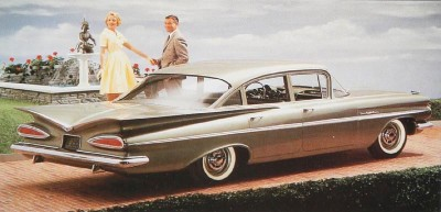 1959 Chevrolet Bel Air four-door sedan rear view